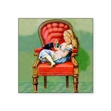 "ALICE  DINAH SQ Square Sticker 3"" x 3"""
