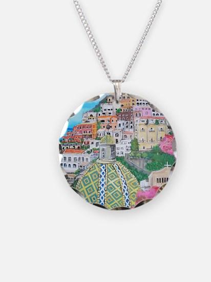 Positano Necklace Circle Charm