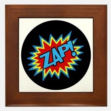 Hero Zap Bursts Framed Tile