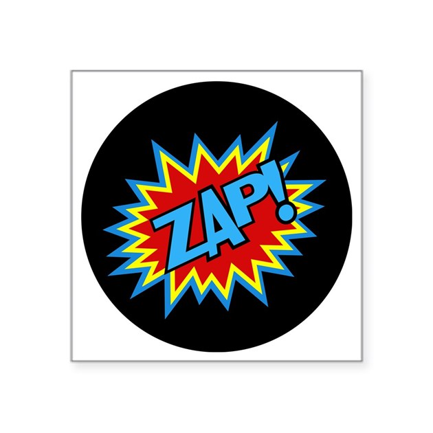 hero zap bursts square sticker 3 quot x 3 quot by admin cp4469009