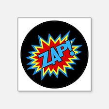 "Hero Zap Bursts Square Sticker 3"" x 3"""