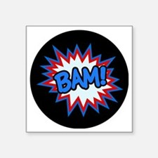 "Hero Bam Bursts Square Sticker 3"" x 3"""