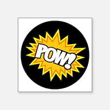 "Hero Pow Bursts Square Sticker 3"" x 3"""
