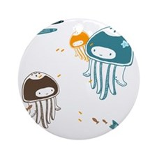 Cute Jellyfish Round Ornament