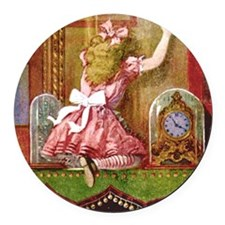 alice through looking glassFINAL_ Round Car Magnet