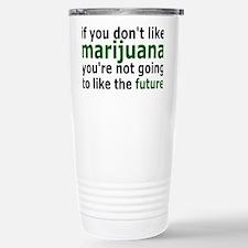 marijuanarectangle Stainless Steel Travel Mug