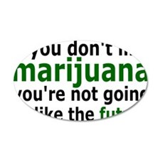 marijuanarectangle Wall Decal