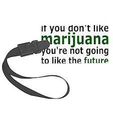 marijuanarectangle Luggage Tag