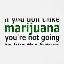 marijuanarectangle Aluminum License Plate