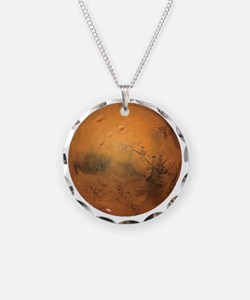 Planet Mars Necklace