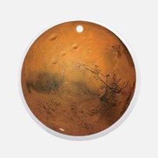 Planet Mars Round Ornament