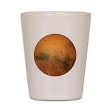 Planet Mars Shot Glass