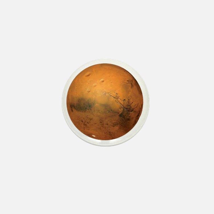 Planet Mars Mini Button
