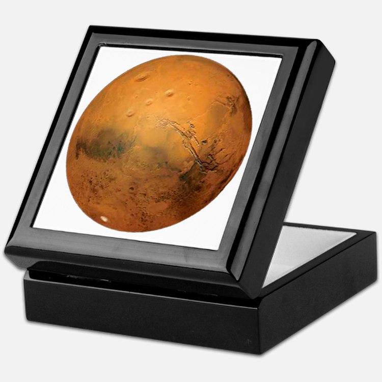 Planet Mars Keepsake Box