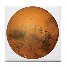 Planet Mars Tile Coaster