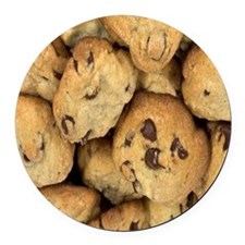 Chocolate Chip Cookies Round Car Magnet