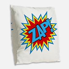 Hero Zap Bursts Burlap Throw Pillow