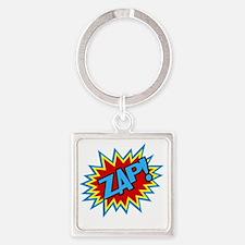 Hero Zap Bursts Square Keychain