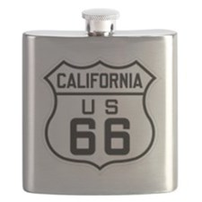 California US 66 sign Flask