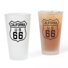California US 66 sign Drinking Glass