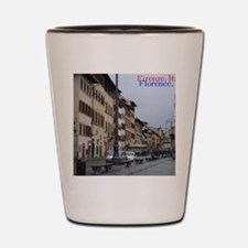 Old town scape (Beautiful Florence) Shot Glass