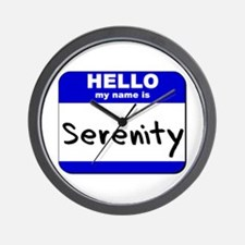 hello my name is serenity  Wall Clock