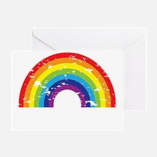VeganRainbow_WhiteText Greeting Card