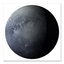 "Planet Pluto Square Car Magnet 3"" x 3"""