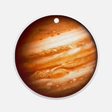 Planet Jupiter Round Ornament