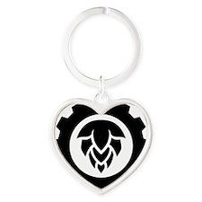 Hop Gear Black Heart Keychain