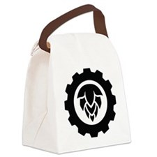 Hop Gear Black Canvas Lunch Bag