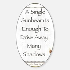 Saint Pope Francis Simple Prayer Sticker (Oval)