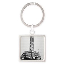 Roma Winery Sign Square Keychain