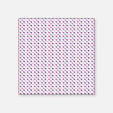 "Colorful Flamingos Square Sticker 3"" x 3"""