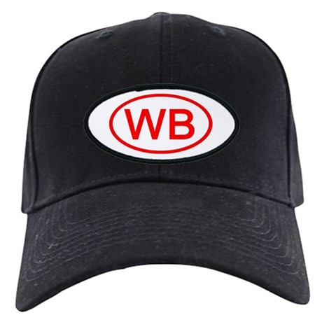 WB Oval (Red) Black Cap