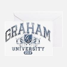 Graham Last name University Class of Greeting Card