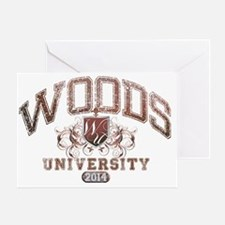 Woods Last Name University Class of  Greeting Card