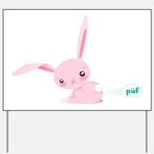 Cute Bunny Poots Yard Sign