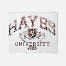 Hayes Last name University Class of  Throw Blanket