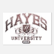 Hayes Last name Universit Postcards (Package of 8)