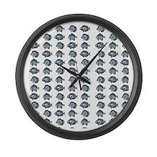 Blue Fish Large Wall Clock