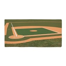 Baseball Field Beach Towel