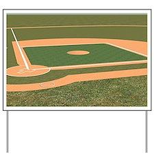 Baseball Field Yard Sign