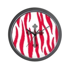 Cross and Zebra front Wall Clock
