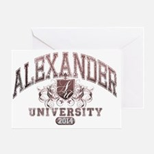 Alexander Last Name UNiversity Class Greeting Card