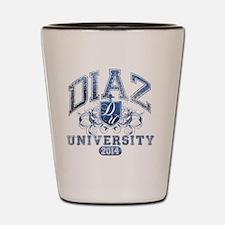 Diaz Last Name University Class of 2014 Shot Glass