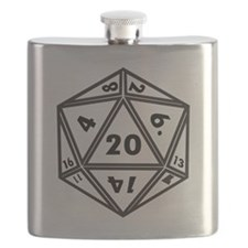 D20 White Flask