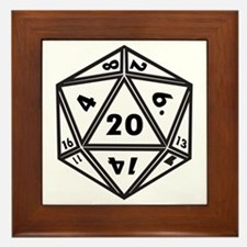 D20 White Framed Tile