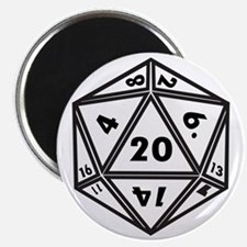 D20 White Magnet