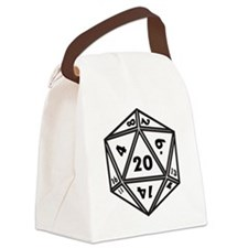 D20 White Canvas Lunch Bag